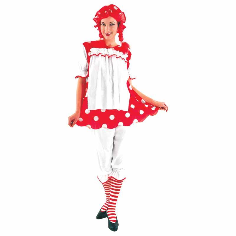 Disfraz Muñeca de Trapo Adulto T/U