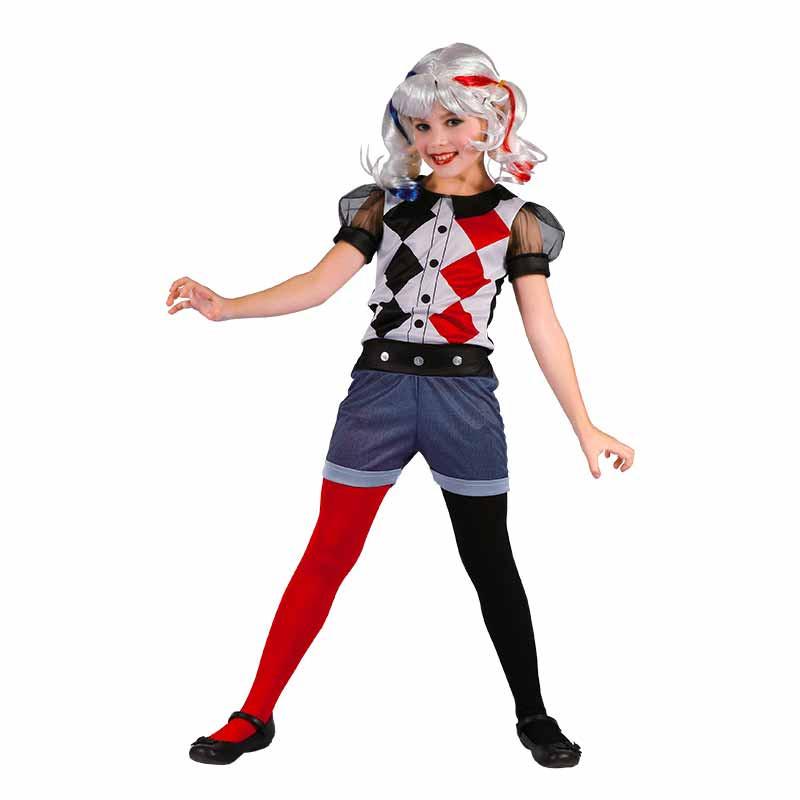 Disfraz Arlequina Halloween infantil