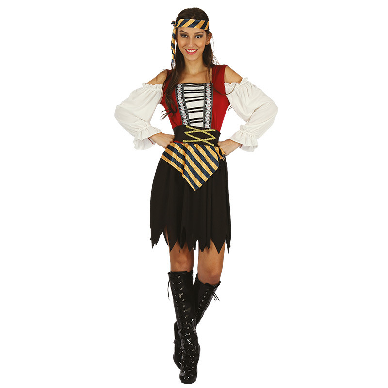 Disfraz Mujer pirata de adulto