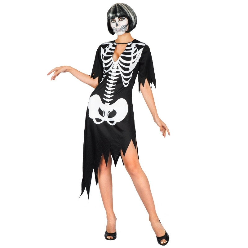 Disfraz Mujer Esqueleto Adulto T/U