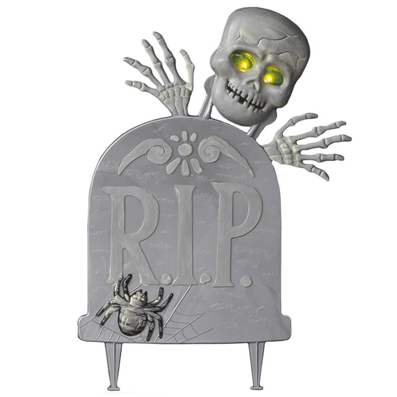Lapida con esqueleto luminoso