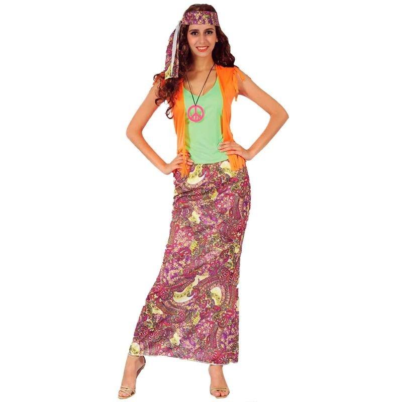 Disfraz mujer Hippie Adulto