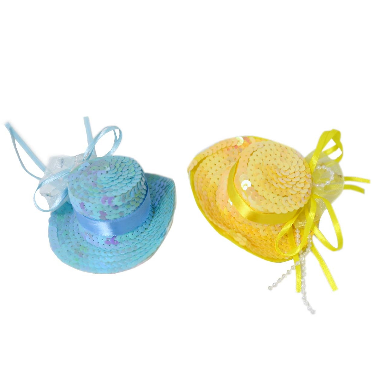 Sombrero Metalizado con clip Carnaval