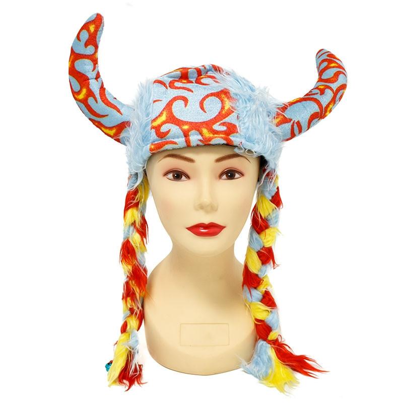 Sombrero Viking con trenzas Carnaval