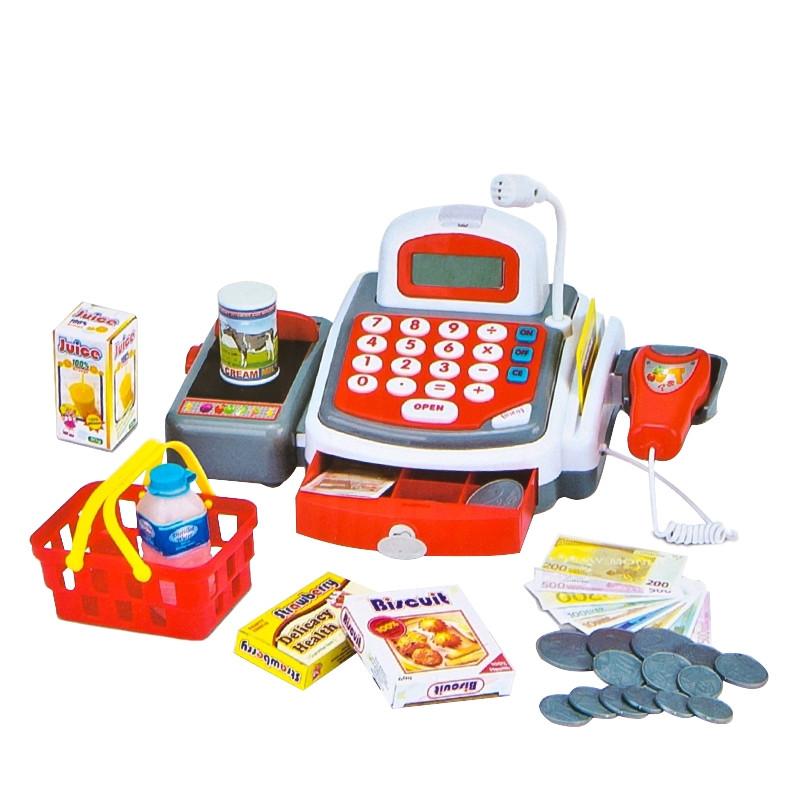 Caja Registradora y calculadora con luces, sonidos