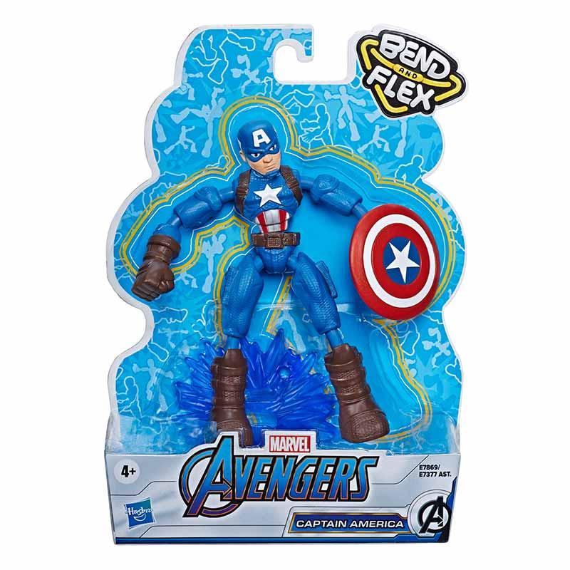 Avengers bend and flex figura Capitán América 15cm