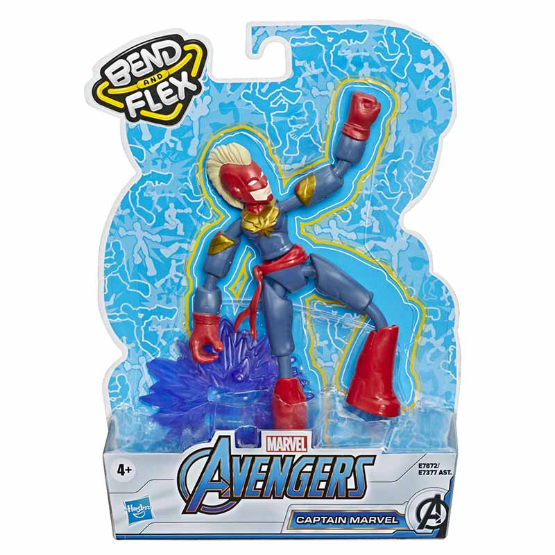 Avengers bend and flex figura Capitana Marvel15cm