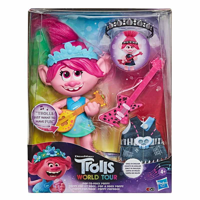 Trolls Muñeca Poppy Rock