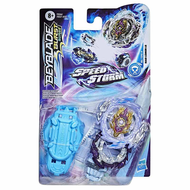 Bey Blade Speedstorm peonza y lanzador Raid luinor