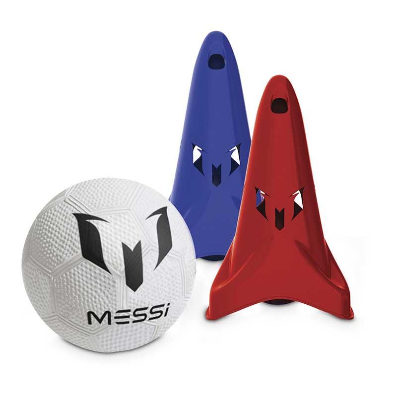 Fútbol sistema entreno Messi con conos