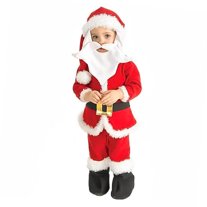Disfraz Papá Noel bebé pelele