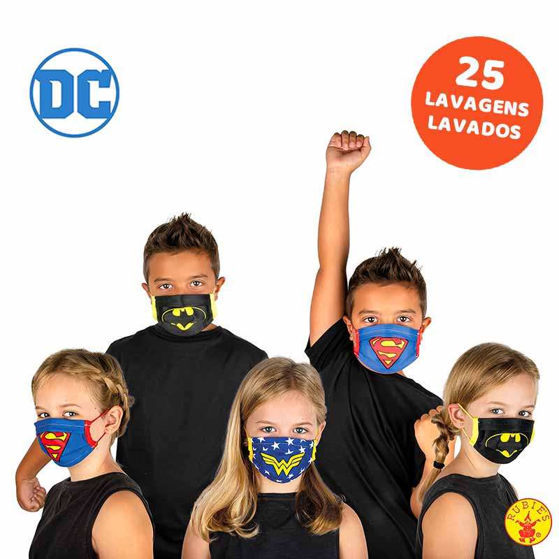 Mascarilla infantil DC comics