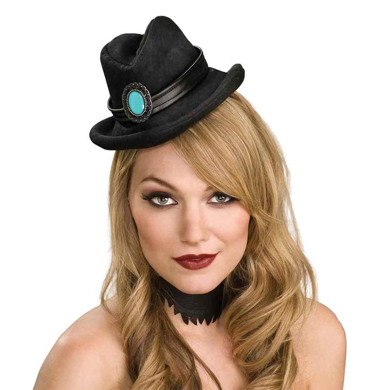 Mini Sombrero cowboy Negro