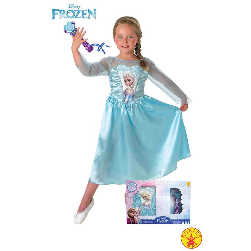 Disfraz Elsa Frozen con microfono inf