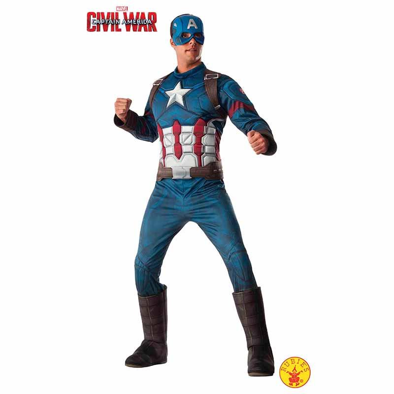 Disfraz Capitán Ameríca deluxe adulto