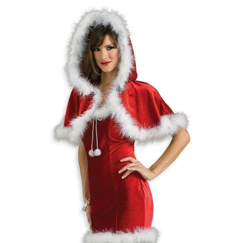 Chal con capucha Mamá Noel adulto