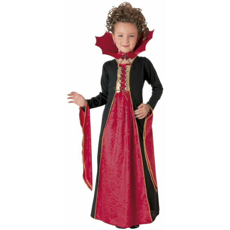 Disfraz vampira gótica roja infantil