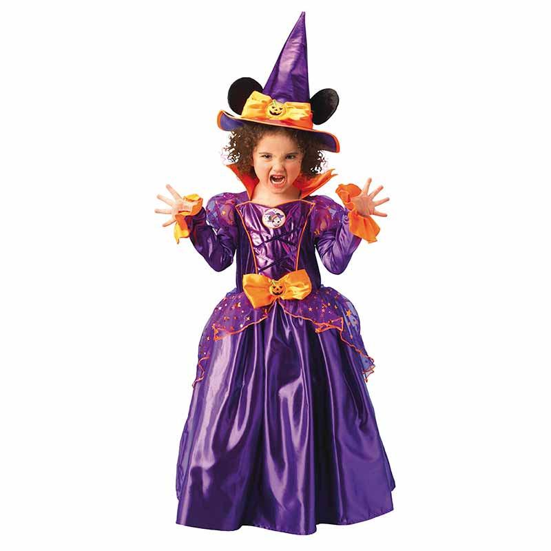 Disfraz Minnie Mouse bruja platinum infantil