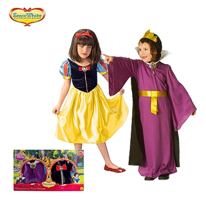 Disfraz Blanca Nieves y Bruja Inf caja