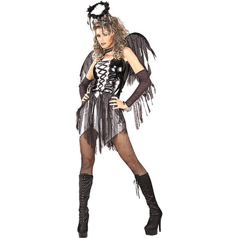 Disfraz Angel Caido con Alas Adulto