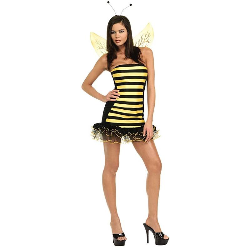 Disfraz abejita con alas y antenas adulto