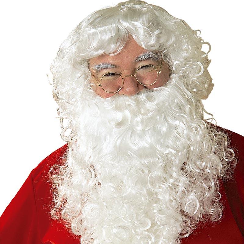 Peluca y barba con bigote papa noel