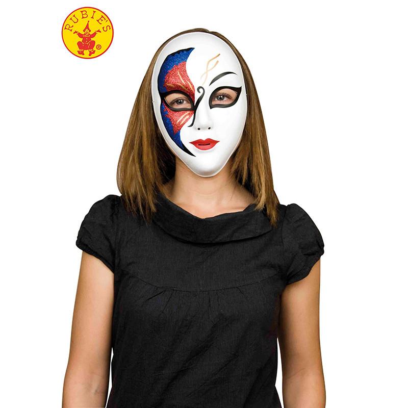 Mascara veneciana glitter negra y Roja
