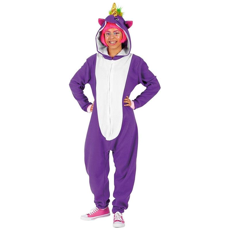 Disfraz Unicornio Violeta Adulto