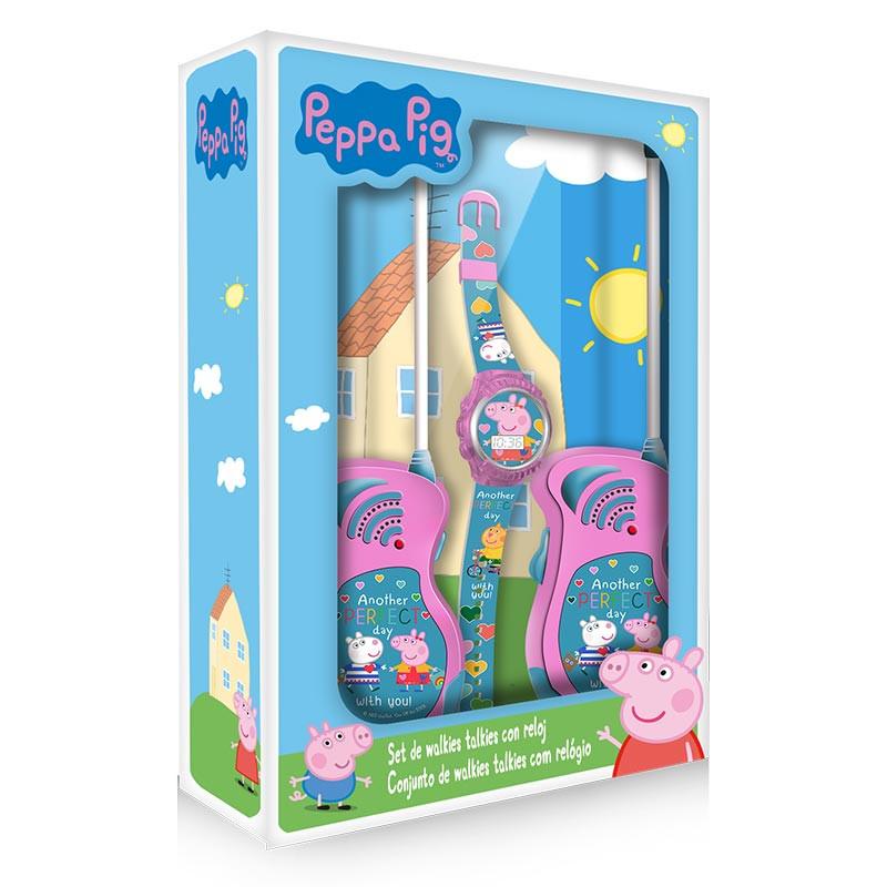Set reloj y walkie talkie Peppa Pig