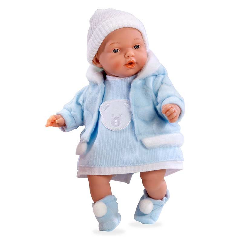 Muñeca bebé llorona Elegance azul