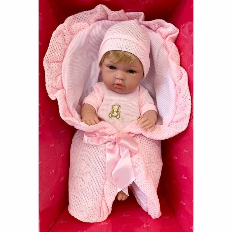 Muñeca Elegance 33 cm Natal rosa con nana
