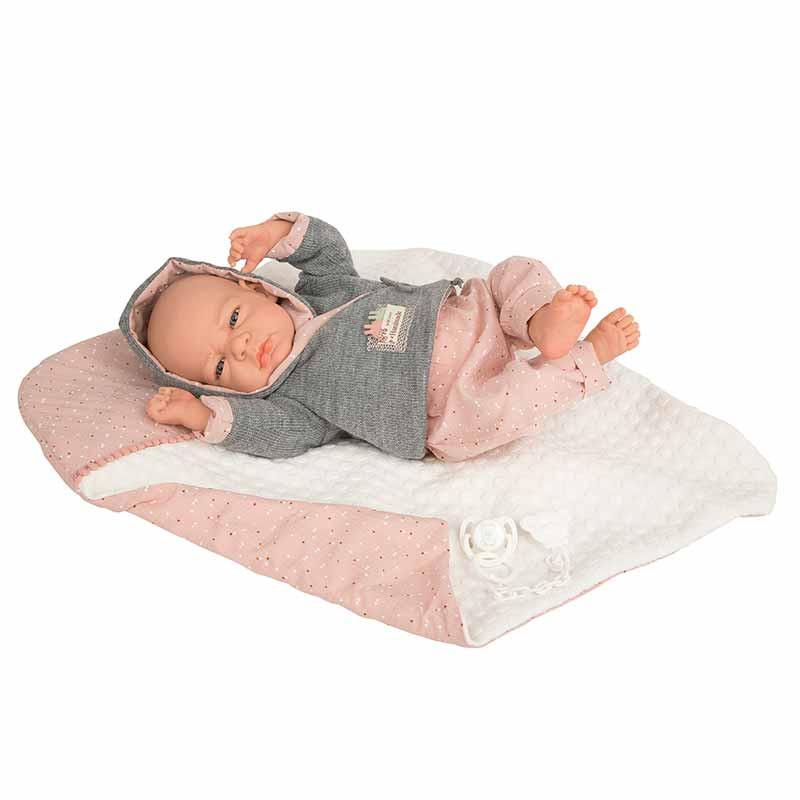Elegance 40 cm Edur rosa con manta (peso real)