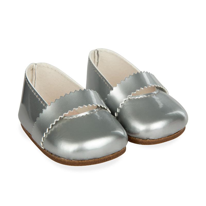Zapatos gris reborns 45 cm