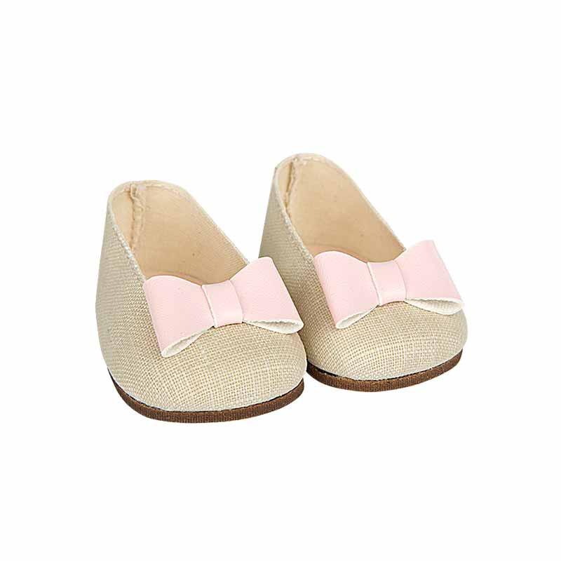Zapatos beige reborns 45 cm