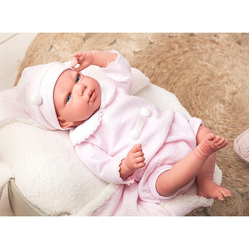 Muñeca Reborn Raquel 40 cm con manta y peluche