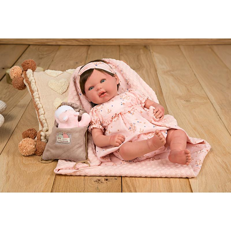 Reborn Esther 45 cm c/Manta, bolso y Peluche