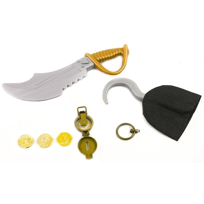 Set pirata espada y garfio 7 piezas