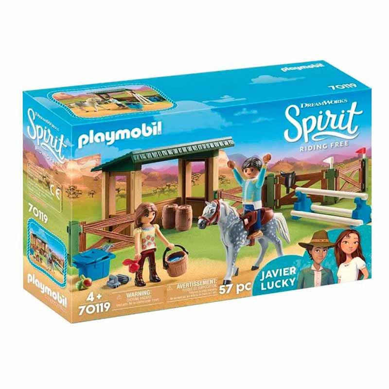 Playmobil Paddock con Fortu y Javier