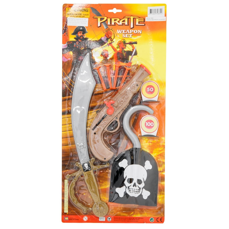 Sable pirata con accesorios