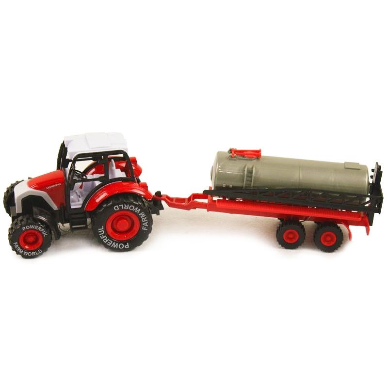 Tractor con remolque de juguete