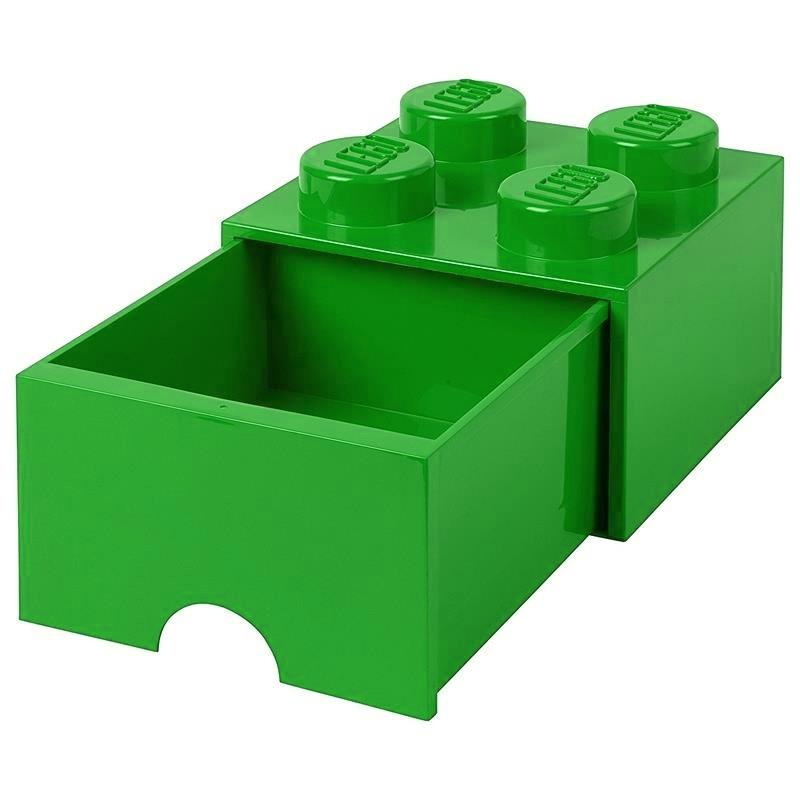 Caja de almacenaje LEGO verde