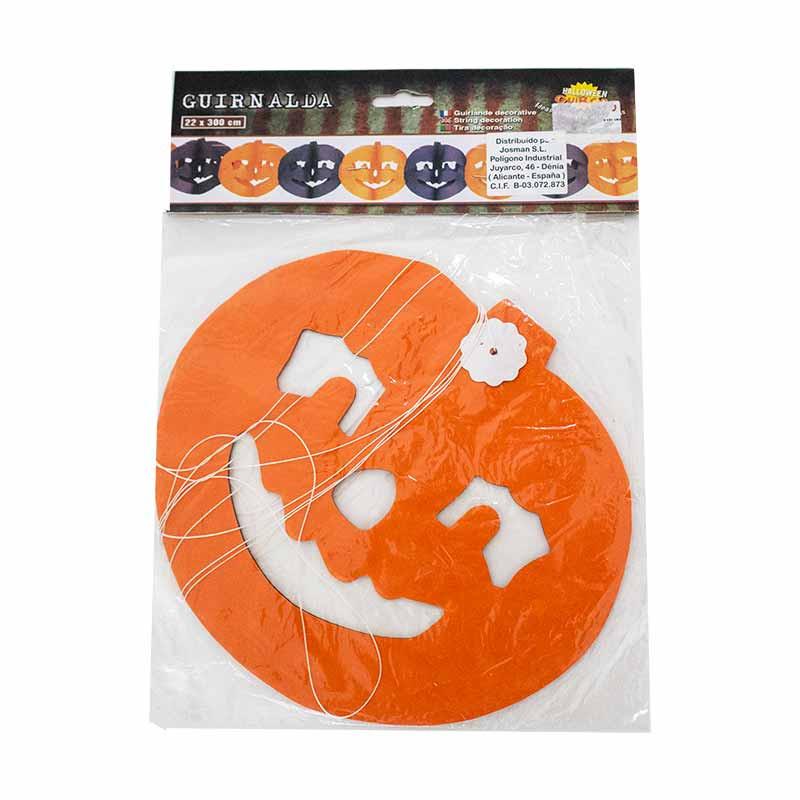 Guirnalda Halloween con calabazas