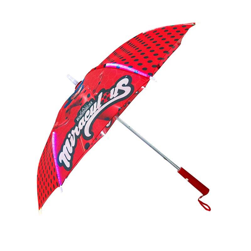 Paraguas auto con luz led Ladybug 46 cm