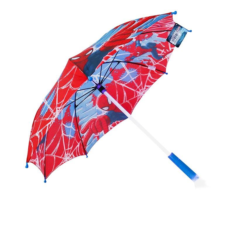Paraguas auto con luz led Spiderman 46 cm