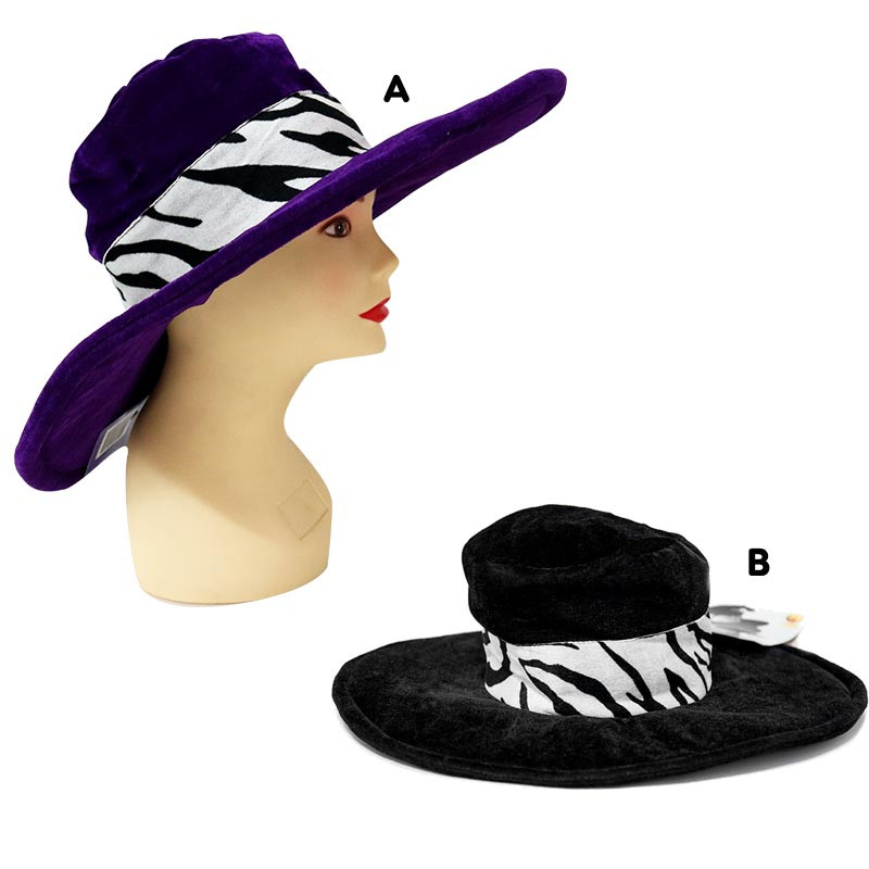 Sombrero Pimp Zebra Negro y Lila
