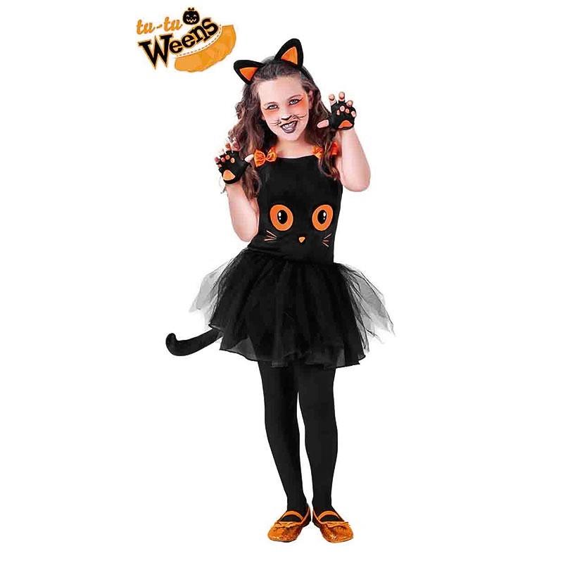 Disfraz gatita negra con tutú infantil