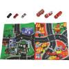 Tapiz de juegos circuitos policía y bombero