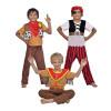 Disfraz 3 en 1 - Cowboy, Indio y Pirata Inf