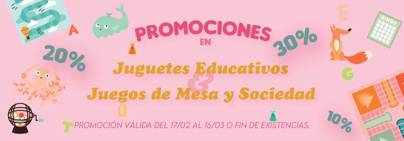 Promociones brinquedos educativos